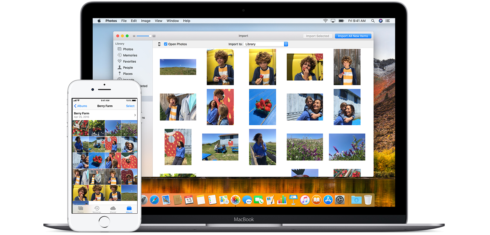 Import photos from android to mac
