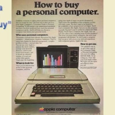 Перша реклама комп'ютерів Apple