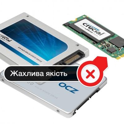 Найбільш ненадійні SSD — OCZ та Сrucial