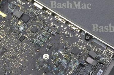 Залил MacBook. Ремонт после залития