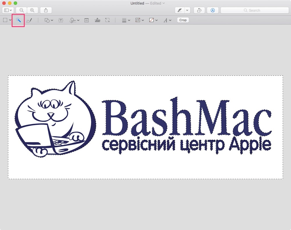 Обработка изображений в приложении Preview на Mac