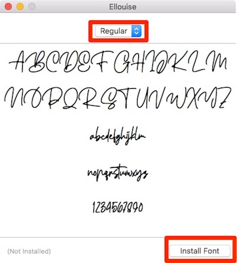 Инструкция по установке шрифта на Mac