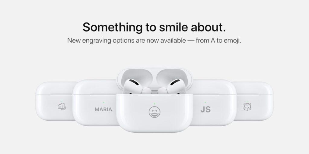 Официальная гравировка AirPods от Apple