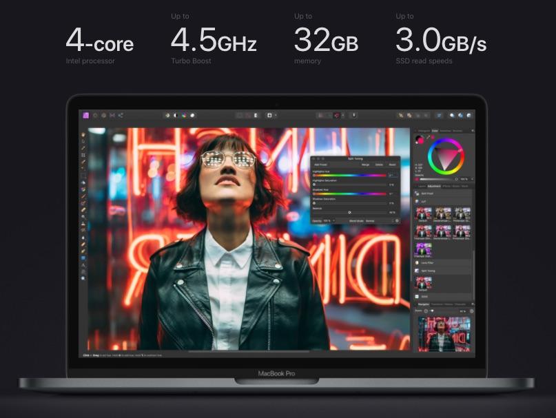 "Характеристики MacBook Pro 13"" Touch Bar (2020)"