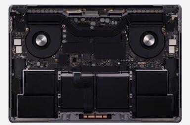 Система охлаждения MacBook Pro 16
