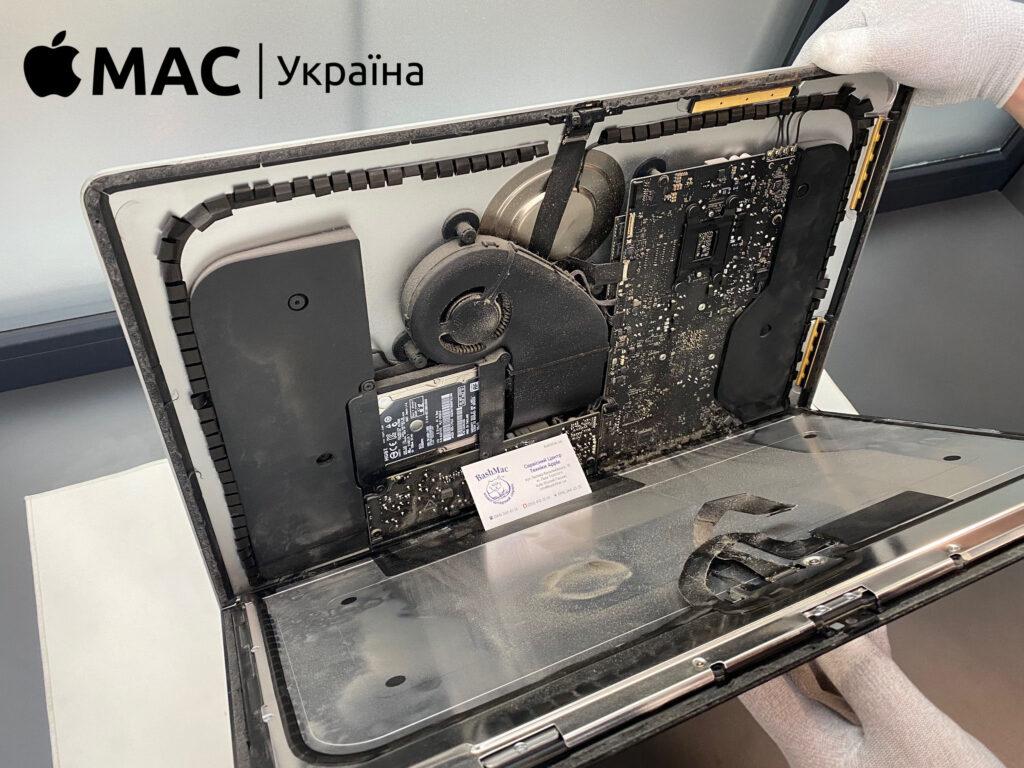 чистка матрицы iMac