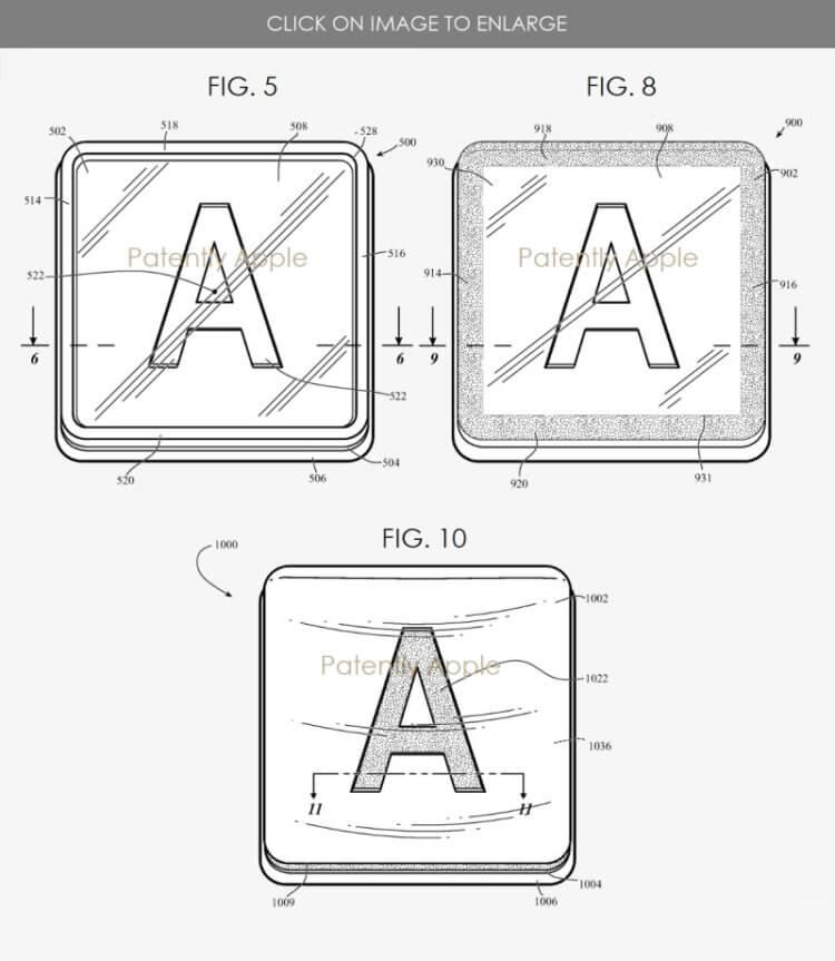 патент Apple на клавіші зі склом