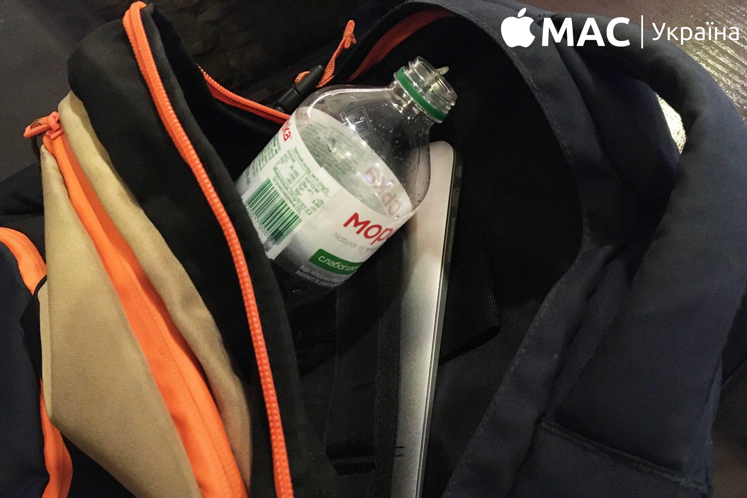 Макбук намок в сумке