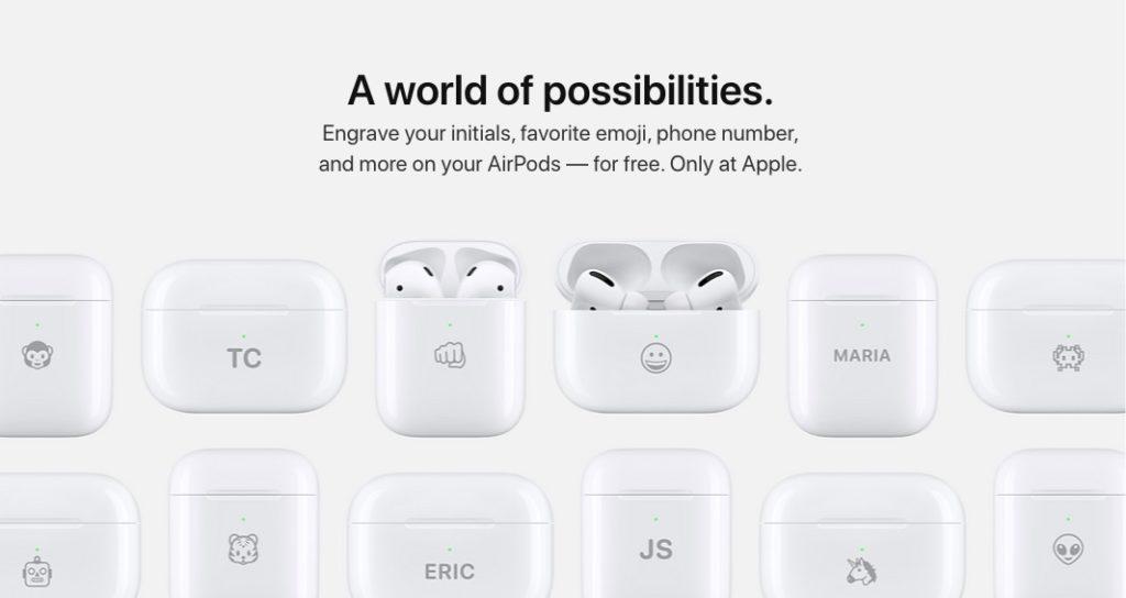 пример гравировки от Apple