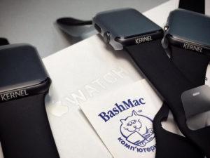пример гравировки на Apple Watch