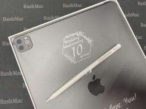 пример гравировки на iPad