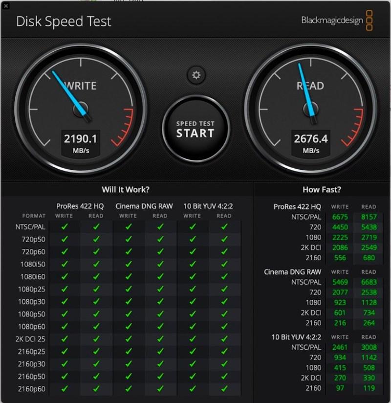 Скорость SSD MacBook Air 2020