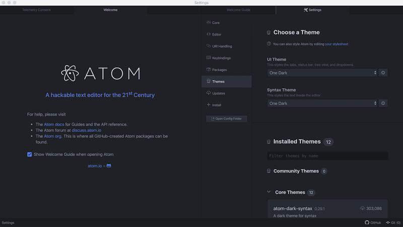 Редактор кода для macOS Atom
