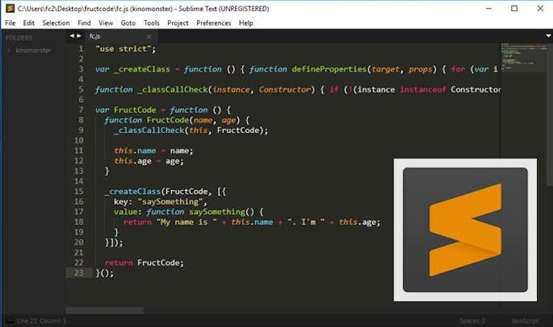 Редактор кода для macOS Sublime Text 3