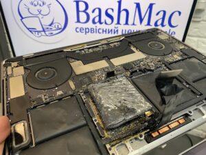 Загорелась батарея на Макбук