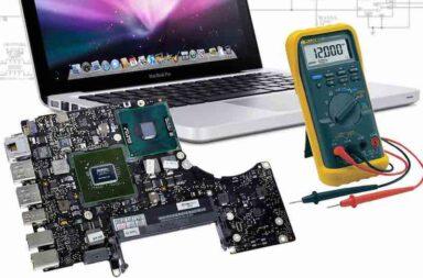 восстановление цепей питания MacBook