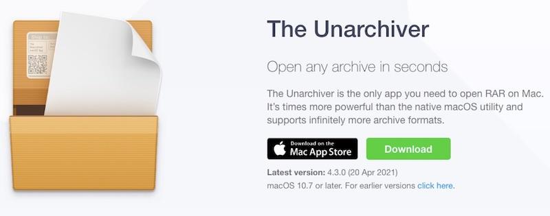 The Unarchiver для macOS
