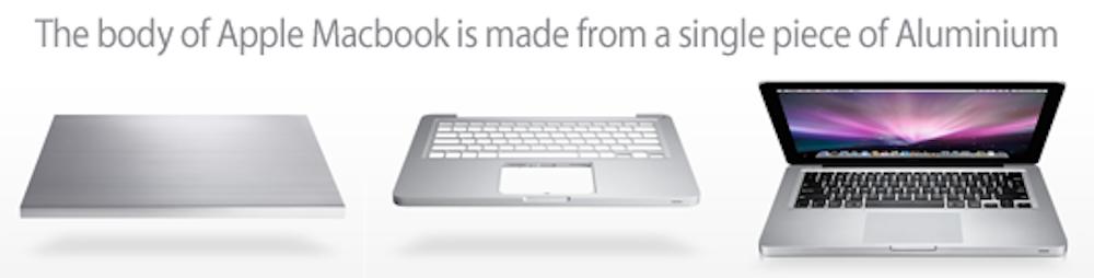 из чего сделан MacBook, корпус