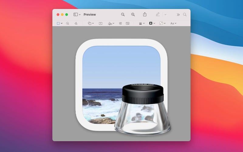 Preview macOS открыть PSD
