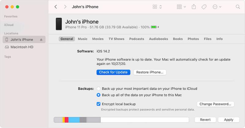 Обновление iPhone через Mac